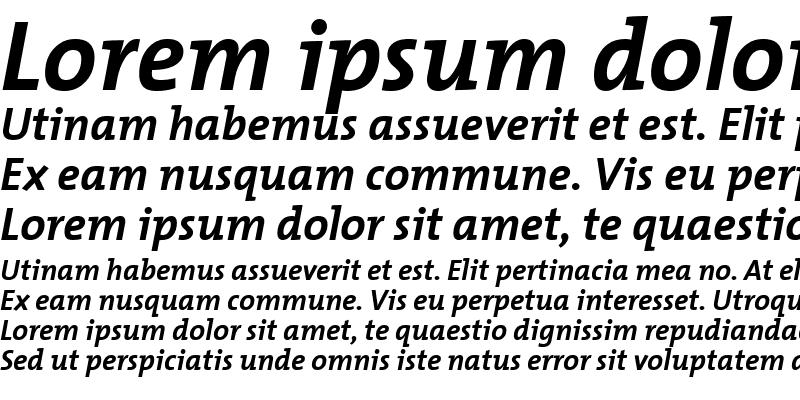 Sample of TheMixBold-Italic