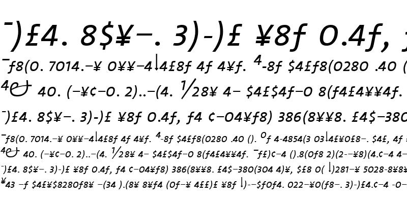 Sample of TheMixLight-ExpertItalic