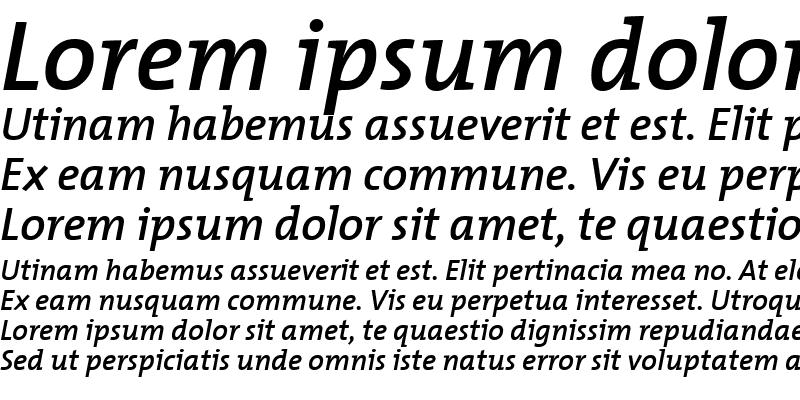 Sample of TheMixSemiBold-Italic