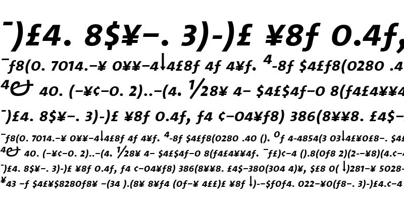 Sample of TheMixSemiBold Roman Italic