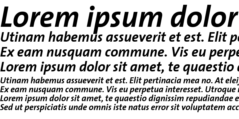 Sample of TheSansBold-Italic