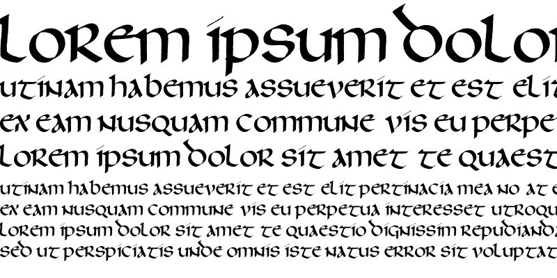 Sample of Thomson Uncial