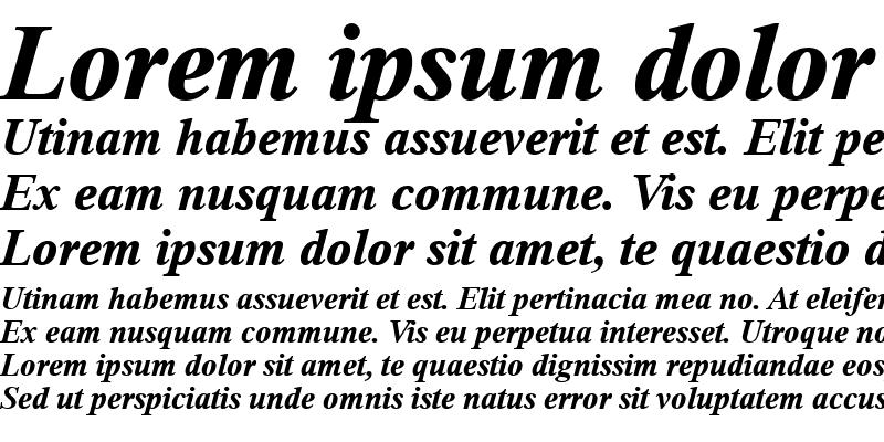 Sample of Thorndale Bold Italic