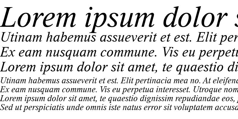 Sample of Thorndale Italic