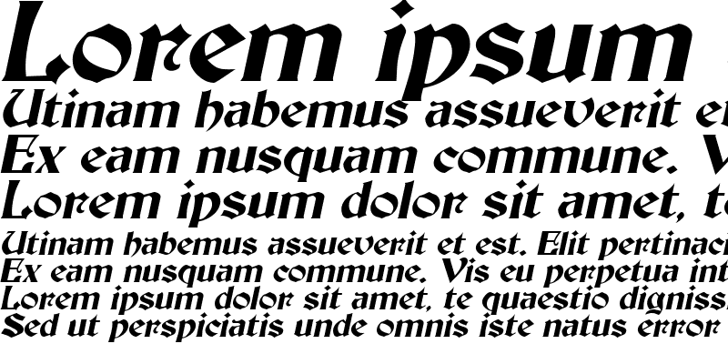 Sample of Thornton Italic