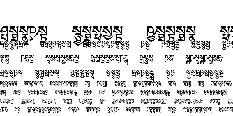Sample of TibetanMachineSkt3 Regular