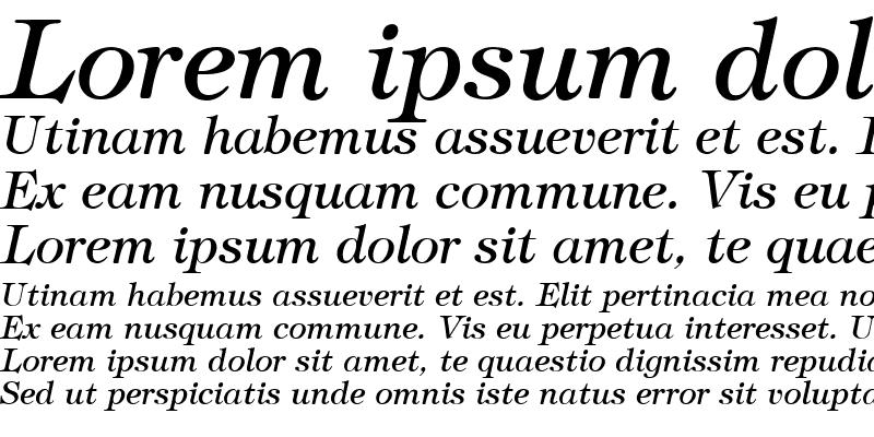 Sample of Tiffany Italic