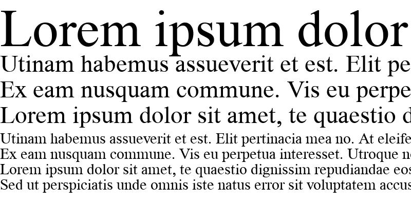 Sample of Time Roman