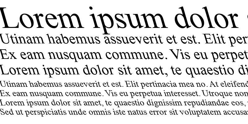 Sample of Times New Roman Backslanted