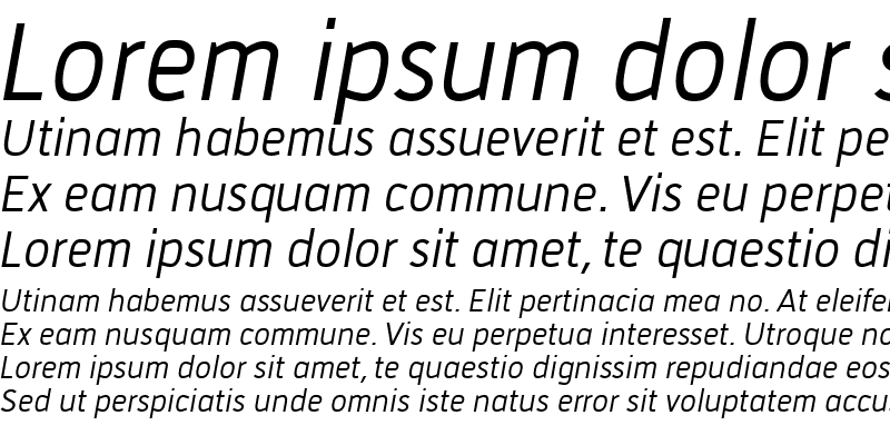 Sample of Tirana Italic Regular