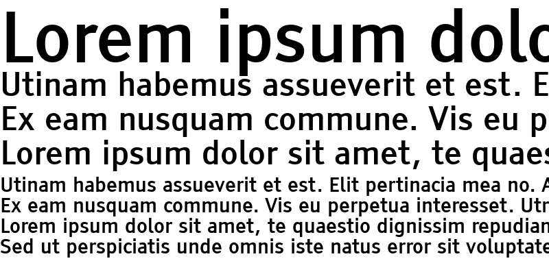 Sample of Tiresias PCfont Bold