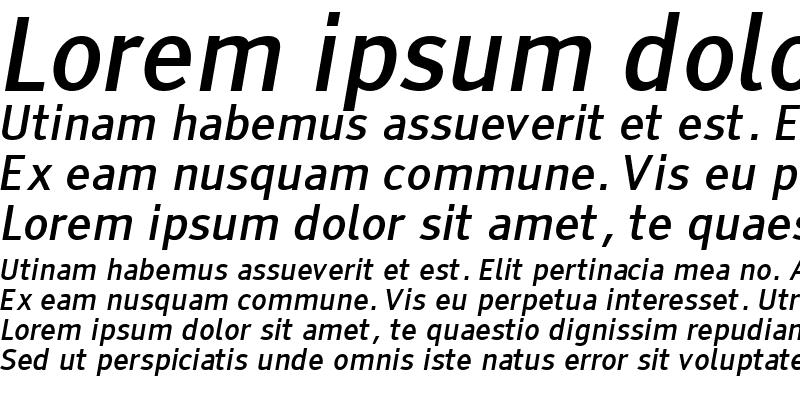 Sample of Tiresias PCfont Italic
