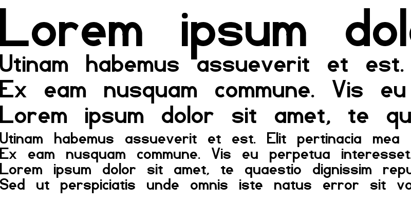 Sample of TL Sans Serif
