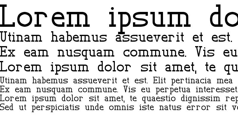 Sample of TL Serif