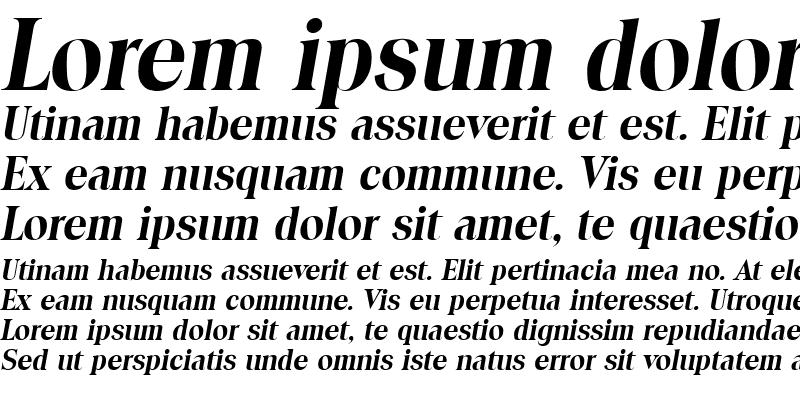 Sample of Toledo Bold Italic