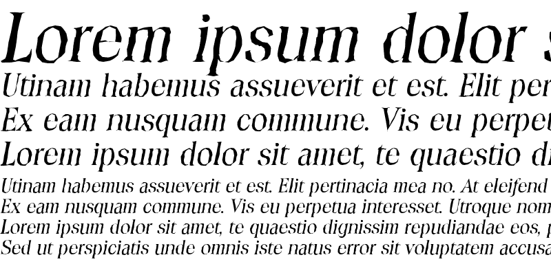 Sample of ToledoAntique Italic