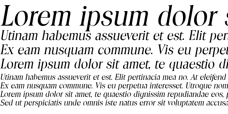 Sample of ToledoSerial Italic
