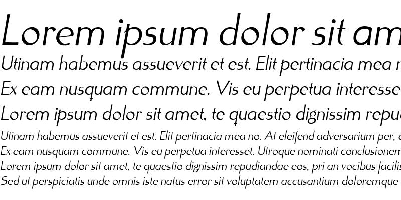 Sample of Tonic Medium Italic