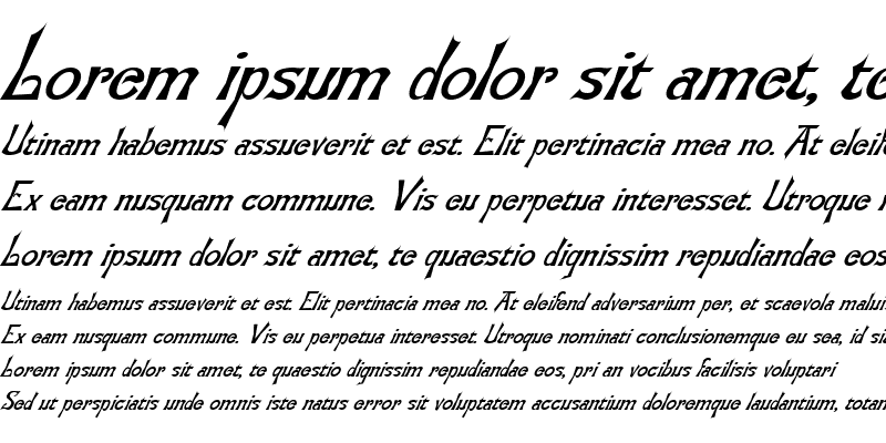 Sample of Tora 4 Italic