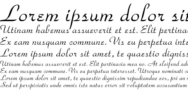 Sample of Torhok Italic