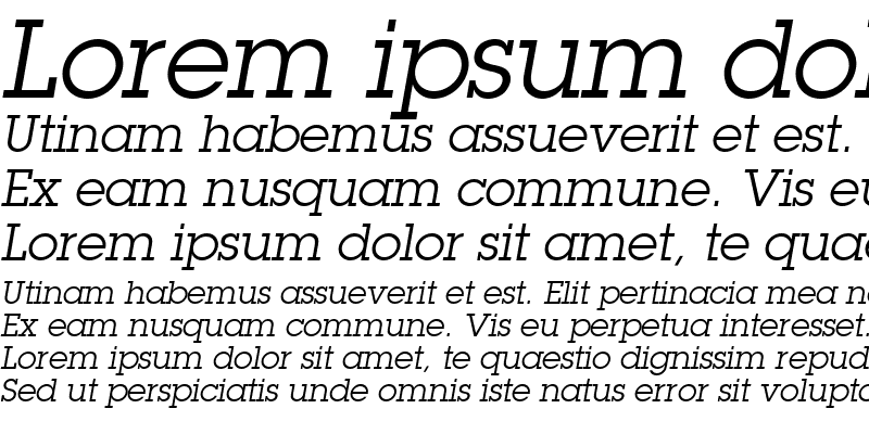 Sample of Torrent Graphic SSi Italic