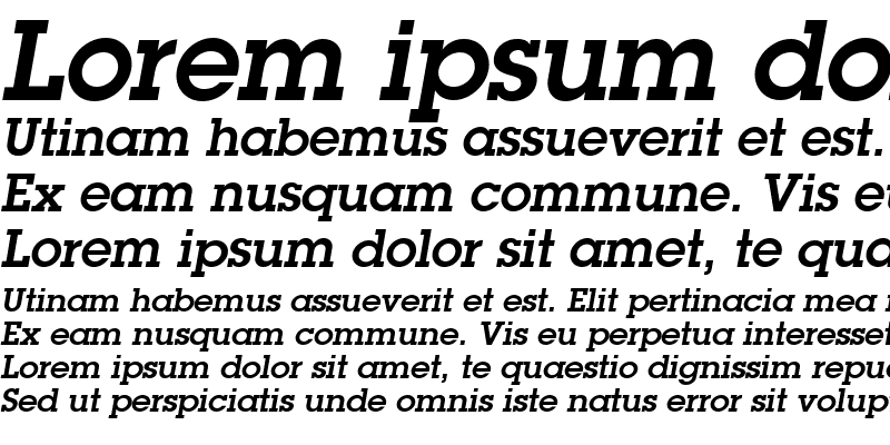 Sample of Torrent Graphic SSi Semi Bold Italic