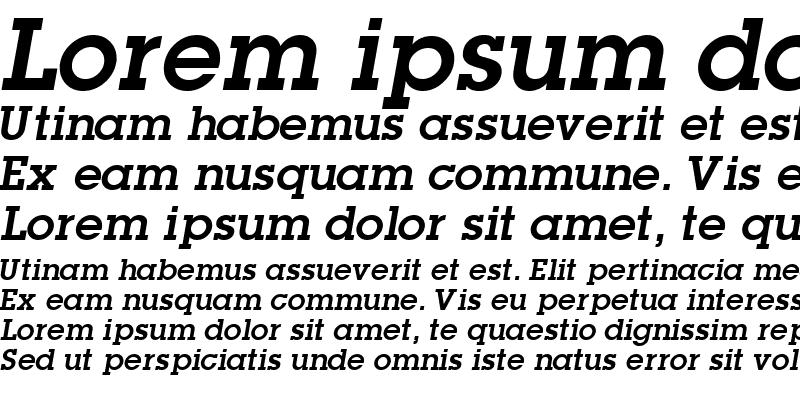 Sample of TorrentGraphicSSK Bold Italic