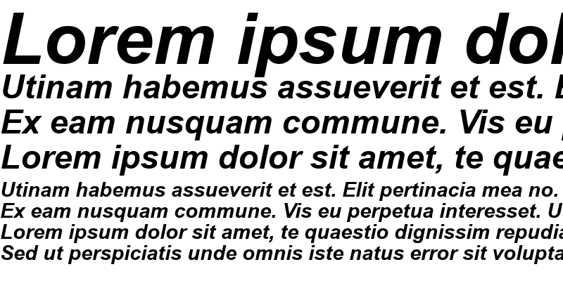 Sample of TR Arial Bold Italic