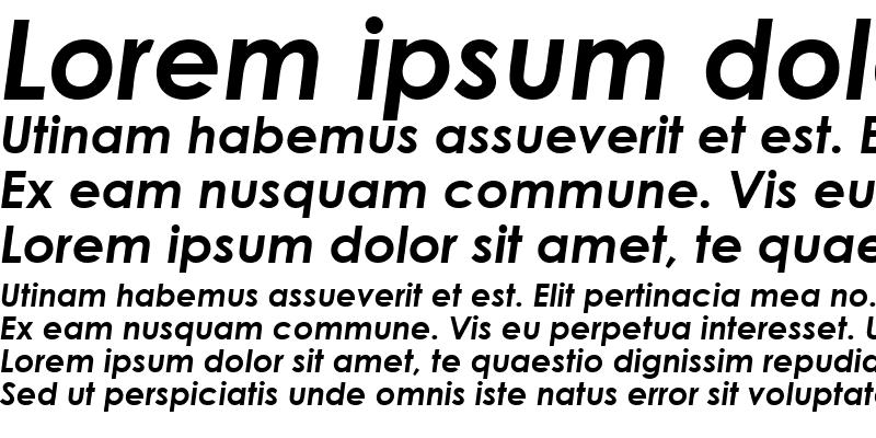 Sample of TR Century Gothic Bold Italic
