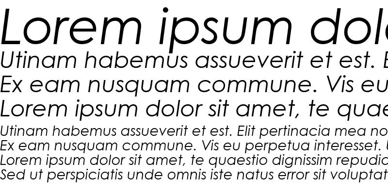 Sample of TR Century Gothic Italic