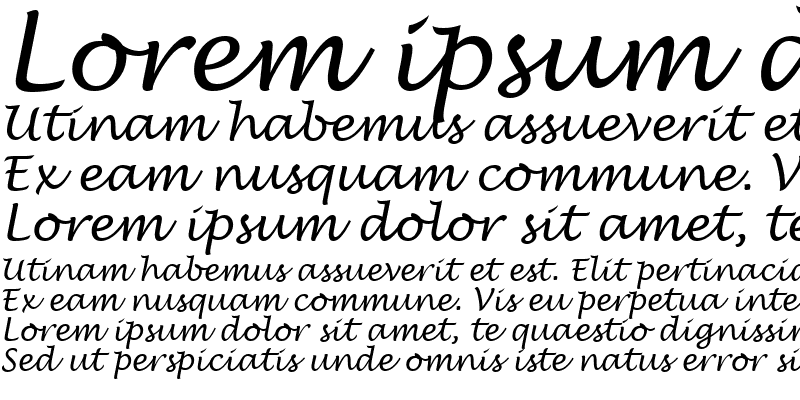 Sample of TR Lucida Handwriting