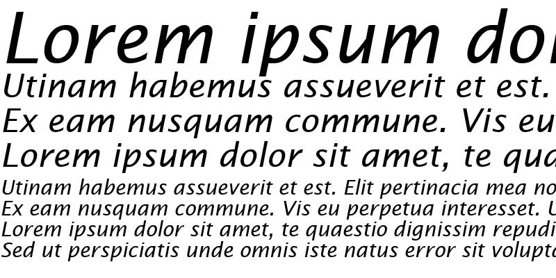 Sample of TR Lucida Sans