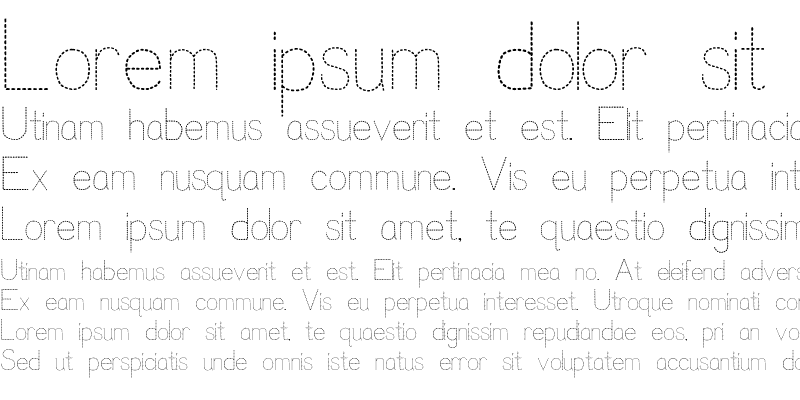 Sample of Trace Font for Kids