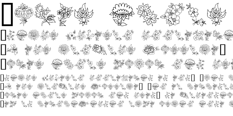 Sample of Traditional Floral Design II