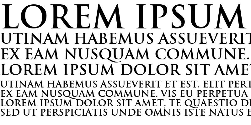 Sample of Trajan Bold