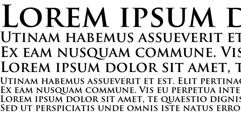 Sample of Trajan Pro Bold