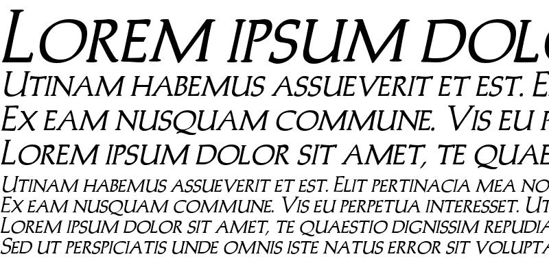Sample of Trajans-Caps Bold Italic