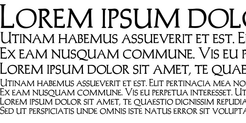 Sample of Trajans-Caps Bold