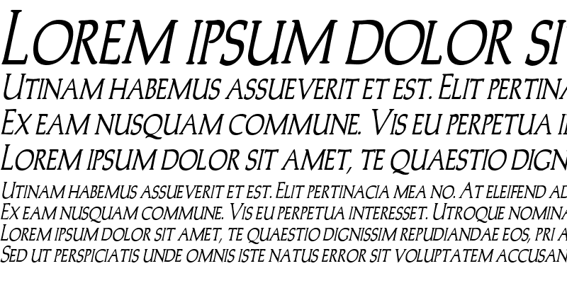 Sample of Trajans-Caps-Condensed Bold Italic