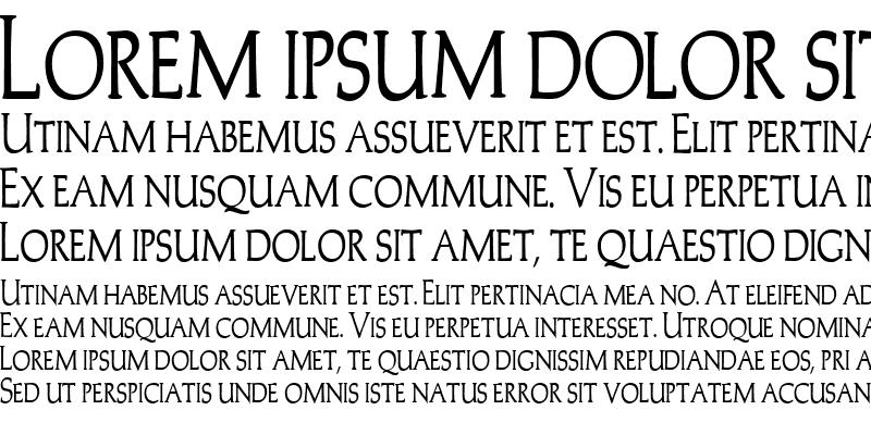 Sample of Trajans-Caps-Condensed Bold