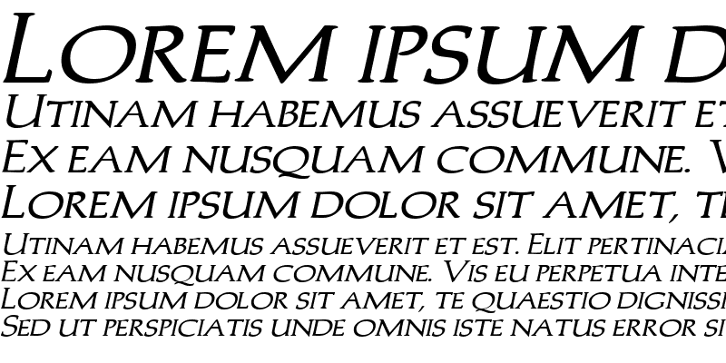 Sample of Trajans-Caps-Extended Bold Italic