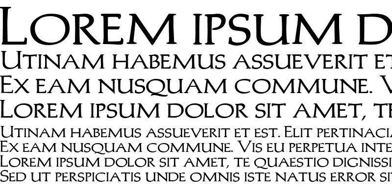 Sample of Trajans-Caps-Extended Bold