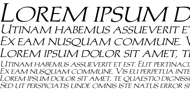 Sample of Trajans-Caps-Extended Italic