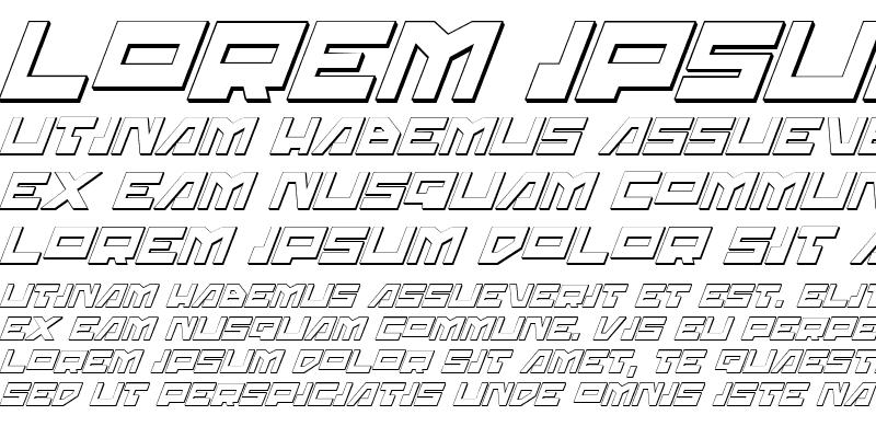 Sample of Trajia Shadow Italic