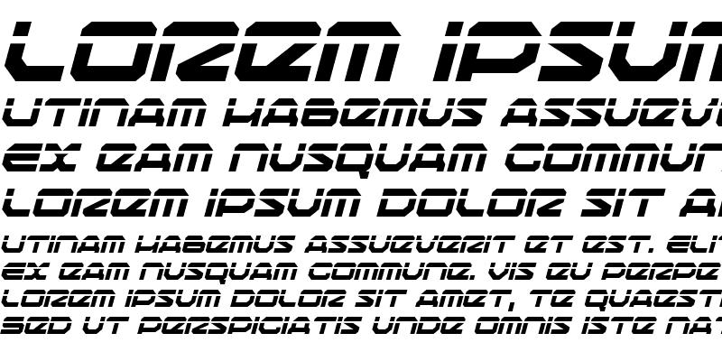 Sample of Traveler Laser Italic
