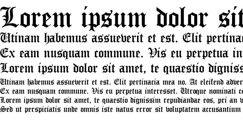 Sample of True Gothic Cyr