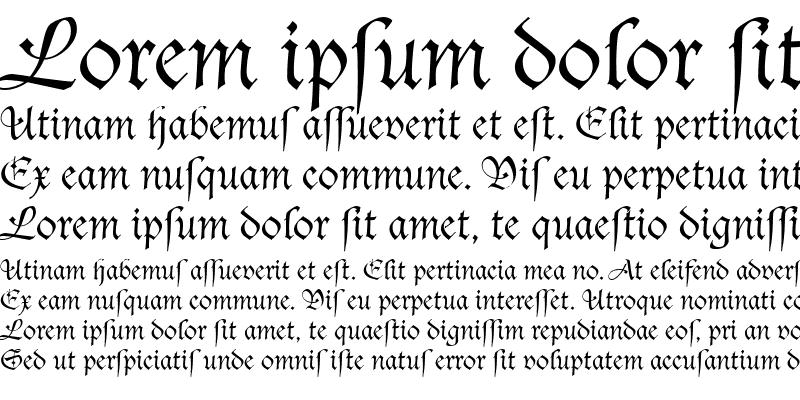 Sample of Tudor Script Light SSi
