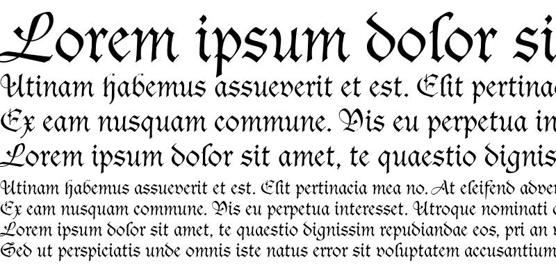 Sample of Tudor Script SSi