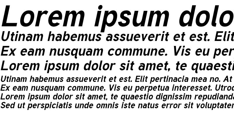 Sample of Tuffy Bold-Italic