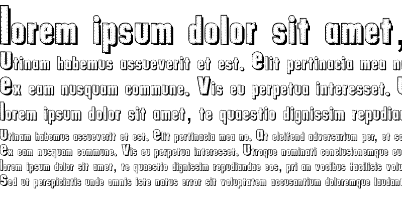 Sample of tungfont alpha 003 Regular